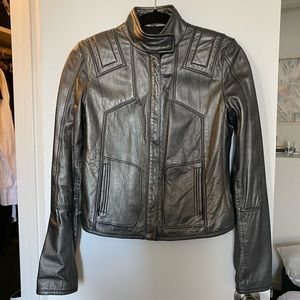 Leather Jacket by Bergdorf Goodman x Elie Tahari
